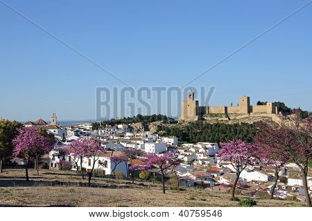 Town and castle, Antequera, Spain.
