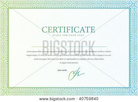 Vector pattern that is used in certificate and diplomas.