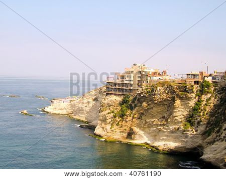 Papanorama Of Beirut's Coastline, Lebanon