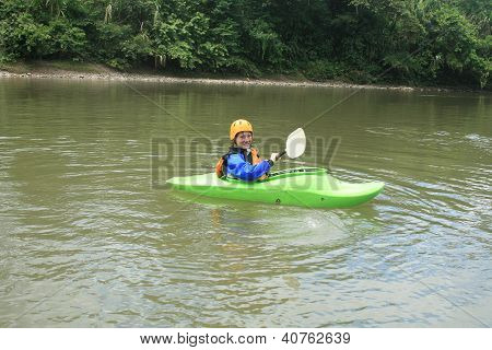 Teen Kayaking