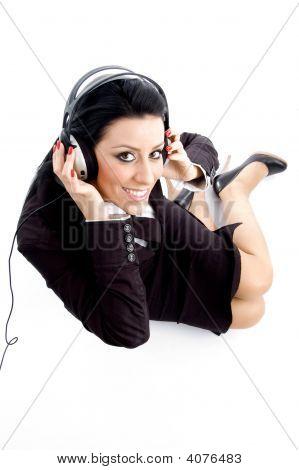 Accountant Wearing Headphone