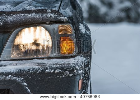 Car In The Winter