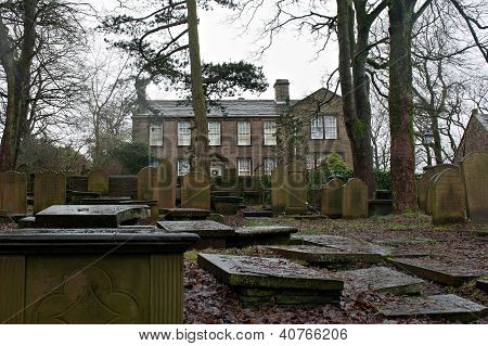 HAWORTH 3RD JANUARY 2013 View of the Bronte Parsonage Museum in Haworth Yorkshire UK