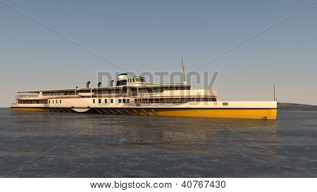 passenger ship in the ocean