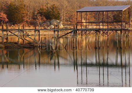 Fishing Pier on Lake