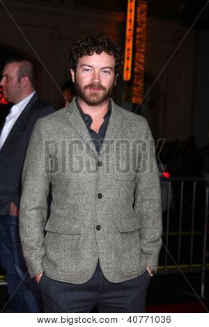 LOS ANGELES - JAN 7:  Danny Masterson arrives at the 'Gangster Squad' Premiere at Graumans Chinese Theater on January 7, 2013 in Los Angeles, CA