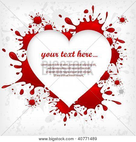 Corazón en Inkblots fondo & texto