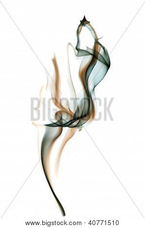 Smoke, white background