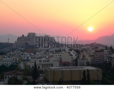 Sun-Set Over The Accropolis