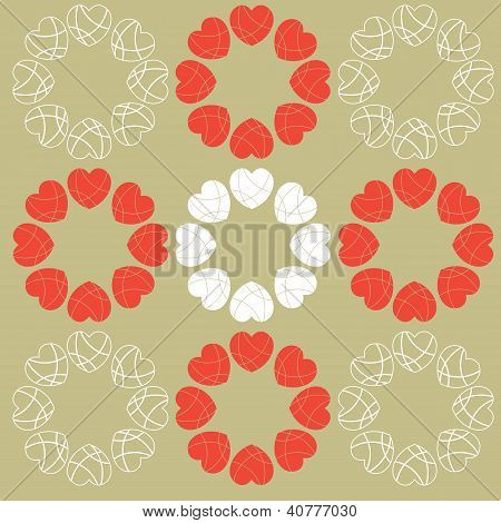 Decorative Heart Background