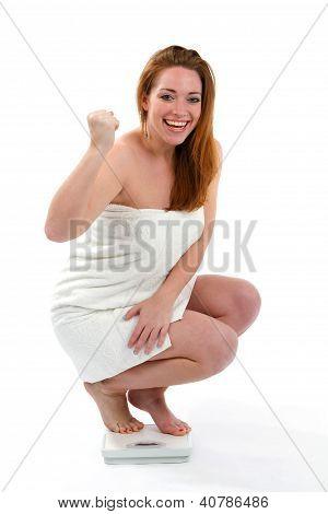 Woman Happy Weightloss