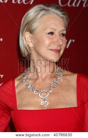 LOS ANGELES - JAN 5:  Helen Mirren arrives at the 2013 Palm Springs International Film Festival Gala  at Palm Springs Convention Center on January 5, 2013 in Palm Springs, CA