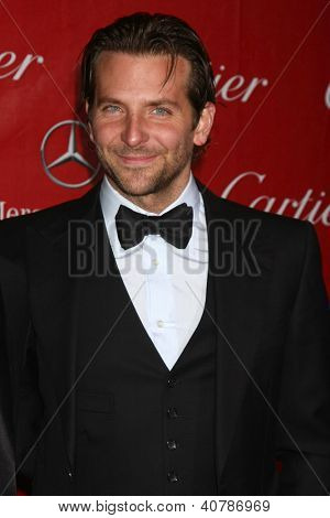 LOS ANGELES - JAN 5:  Bradley Cooper arrives at the 2013 Palm Springs International Film Festival Gala  at Palm Springs Convention Center on January 5, 2013 in Palm Springs, CA