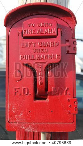 Old FDNY fire alarm box
