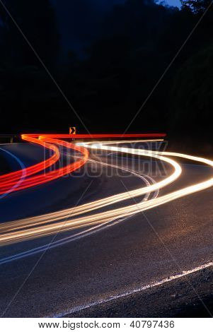 Light Trail At The Curve