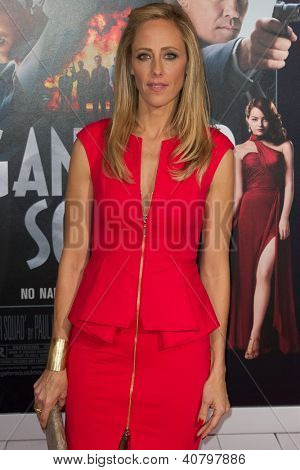 LOS ANGELES, CA - JANUARY 7: Kim Raver arrives at the premiere of Gangster Squad at Grauman's Chinese Theatre in Los Angeles, CA on January 7, 2013