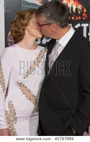 LOS ANGELES, CA - JANUARY 7: Mireille Enos and Alan Ruck arrive at the premiere of Gangster Squad at Grauman's Chinese Theatre in Los Angeles, CA on January 7, 2013