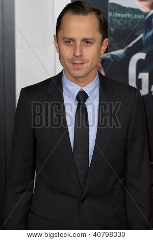 LOS ANGELES, CA - JANUARY 7: Giovanni Ribisi arrives at the premiere of Gangster Squad at Grauman's Chinese Theatre in Los Angeles, CA on January 7, 2013