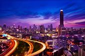 picture of nightfall  - Bangkok  - JPG