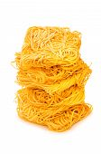 Stack Of Spaghetti Isolated On The White poster