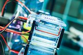 stock photo of electrophoresis  - Build a gel electrophoresis chamber - JPG