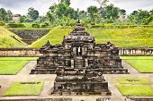 Candi Sambisari the underground hindu temple on Java, indonesia.