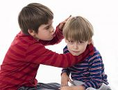 picture of crew cut  - two brothers fighting - JPG