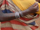 Tribal Women Link Arms