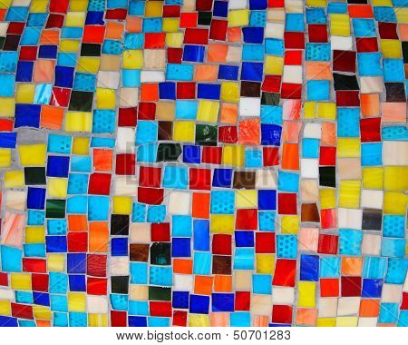 Colorful Squares Mosaic Tiles