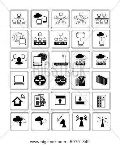 Collection Of Network Web Icon Symbol