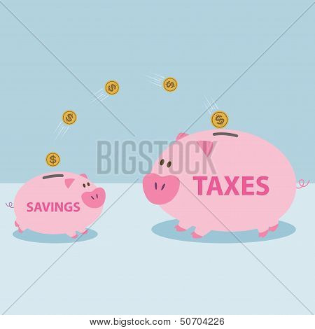 Money From Piggy Bank To Be Allowed To Pay Taxes.