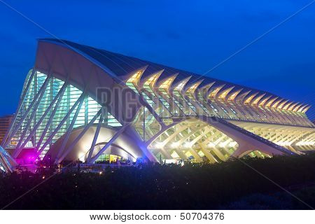 The Prince Felipe Science Museum in Valencia Spain.