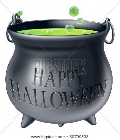 Happy Halloween Witch Cauldron