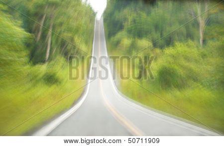 Highway In Motion Blur