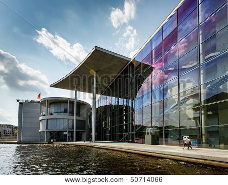 German Chancellery (bundeskanzleramt) Building Near Reichstag In Berlin, Germany