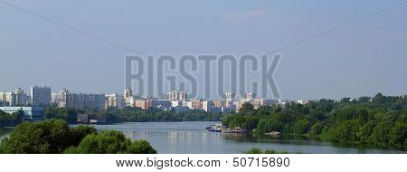 Urban Lansscape With River