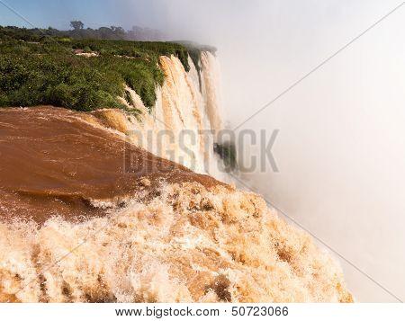 Waterfall At Iguassu Falls