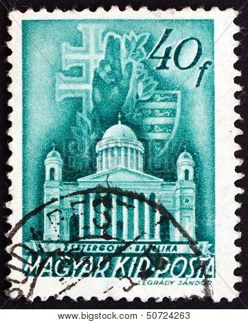 Postage Stamp Hungary 1939 Primatial Basilica, Esztergom, Budape