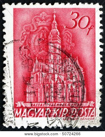 Postage Stamp Hungary 1939 Coronation Church, Matthias Church, Budapest