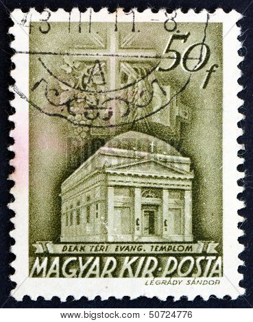 Postage Stamp Hungary 1939 Deak Square Church