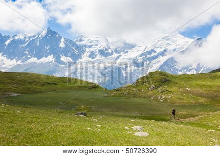 A Beautiful View Of The Mont Blanc In The French Alps