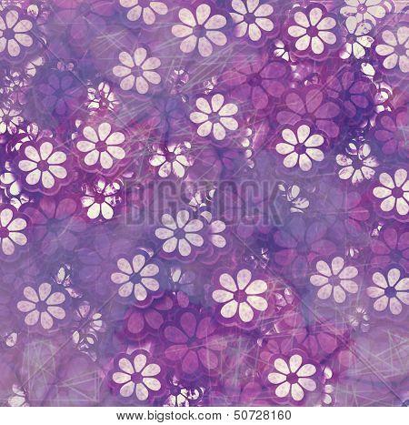Grunge Repeating Flower Pattern