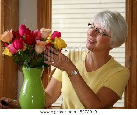 Woman Roses
