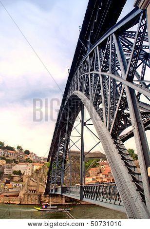 Brige From Eiffel In Porto