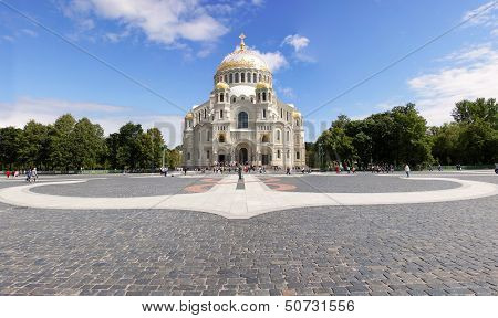 Naval Cathedral In Kronstadt, Russia