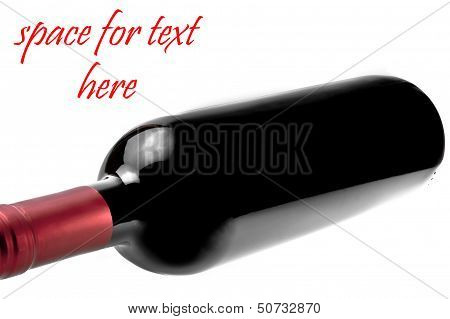 Red Wine Bottle With Space For Text