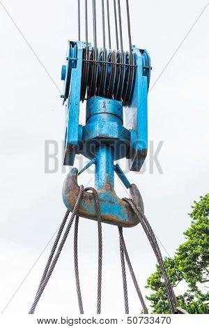Heavy Duty Steel Wire Rope Sling On Hook