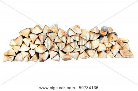 Beech Wood Table On White