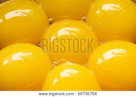 Egg Yolks close up