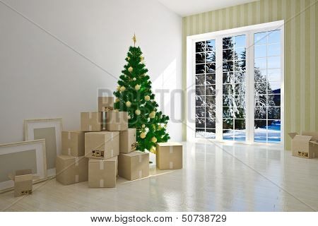 Christmas  moving house